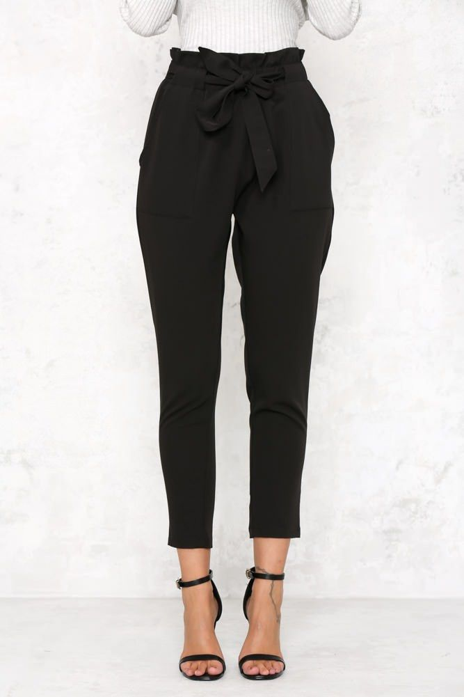 Tie Waist Cropped Trousers