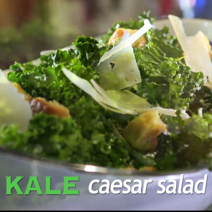 Damaris has a light and tangy twist on the classic Caesar salad. Plus, she uses kale for some added nutritional benefits.