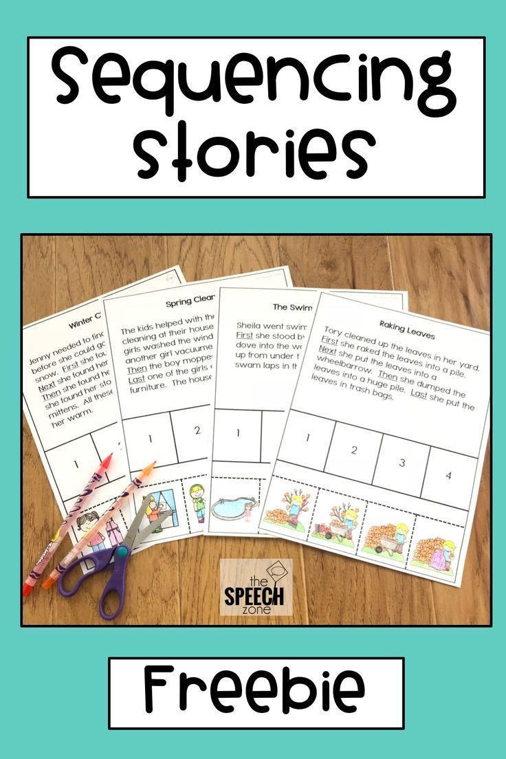 Free Four Step Sequencing Stories Sample Use These Worksheets To Practice School Speech Therapy Sequencing Activities Kindergarten Story Sequencing Worksheets