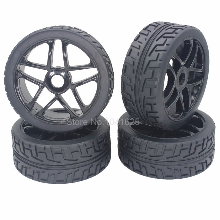 4 Pieces 1/8 Buggy Tires & Wheels Rims 17mm Hub For Off Road RC Car HPI Losi HSP BAZOOKA CAMPER 94860 #Affiliate