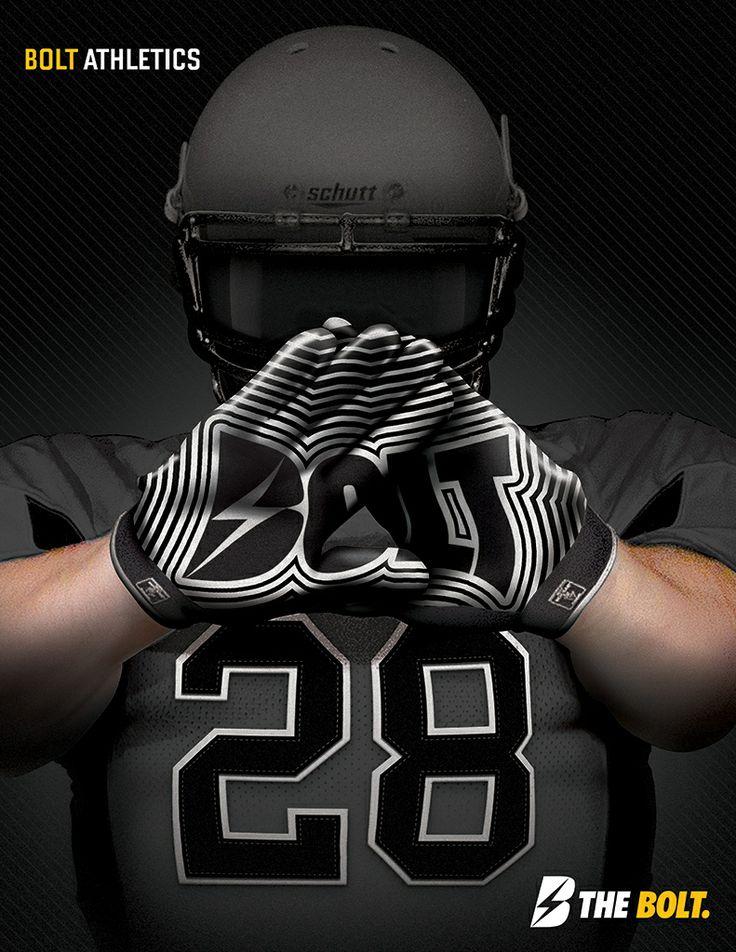 Custom Football Gloves by Bolt Athletics