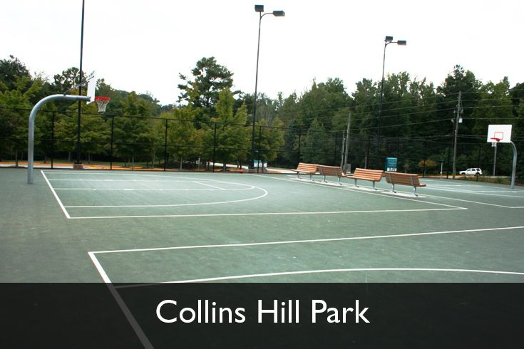 Outdoor basketball courts collins hill park for Collins hill