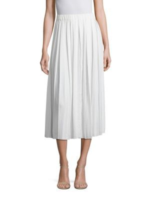 ELIZABETH AND JAMES Quinn Pleated Midi Skirt. #elizabethandjames #cloth #skirt