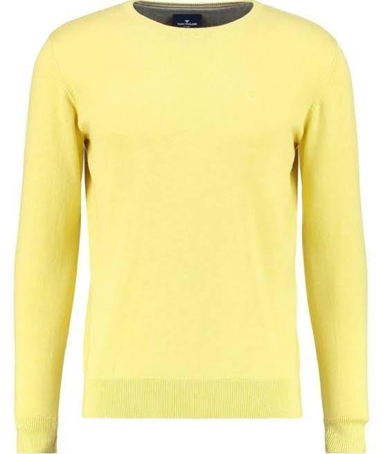 gele trui mannen