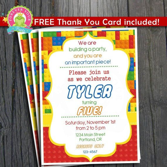 8 best Lego Birthday Party images on Pinterest Lego birthday, Lego - best of invitation for 1st birthday party free