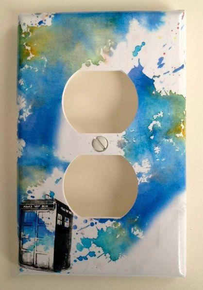 Doctor who tardis decorative light switch cover doctor who for Tardis light switch cover