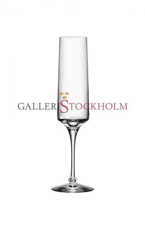Efva Attling - Kristallglas - Orrefors - Symbols Champangeglas Beställ här! Klicka på bilden.
