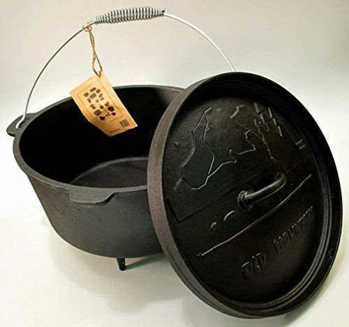 Dutch Ovens  Old Mountain Cast Iron Preseasoned 8qt Dutch Oven with Feet *** Continue to the product at the image link.