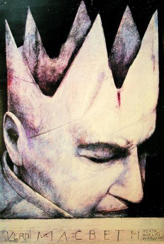 Polish Poster: Macbeth Opéra Wiktor Sadowski