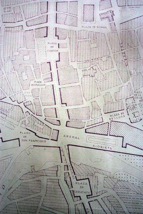 Murcia. Proyecto de Ordenación Urbana. Gaspar Blein. Septiembre de 1949. Fuente: AMM, Planero