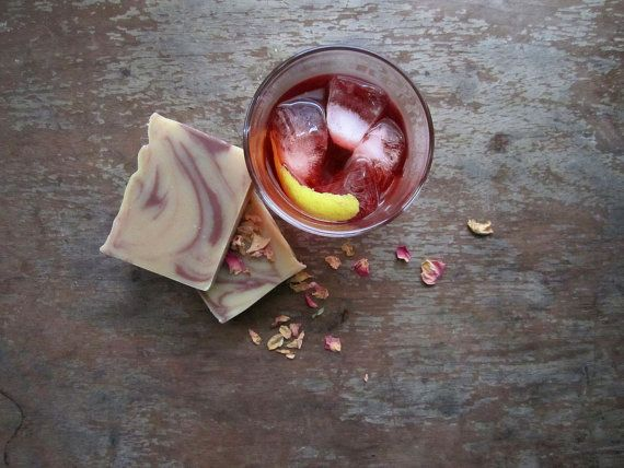 Negroni Cold Process Soap for #NegroniWeek