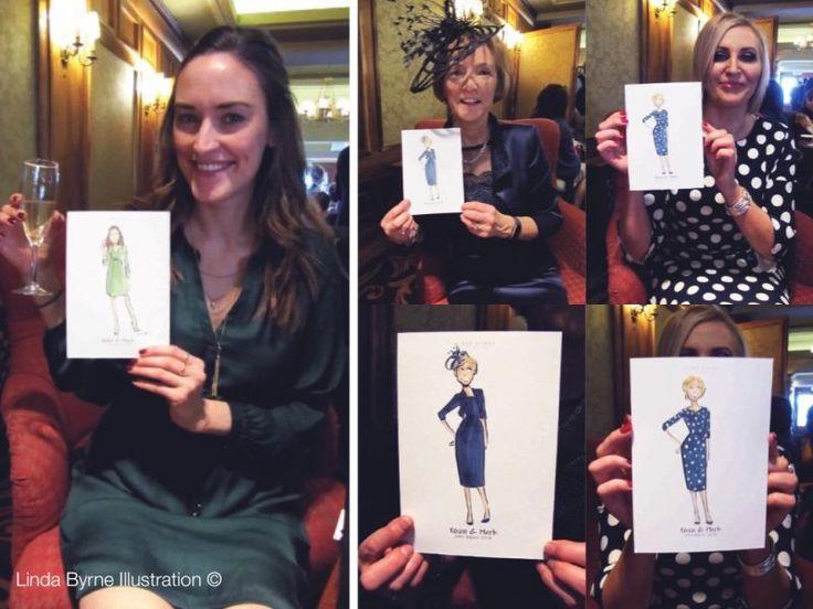 Live Wedding Event Linda Byrne Illustration, Wedding artist, Wedding illustrator Ireland