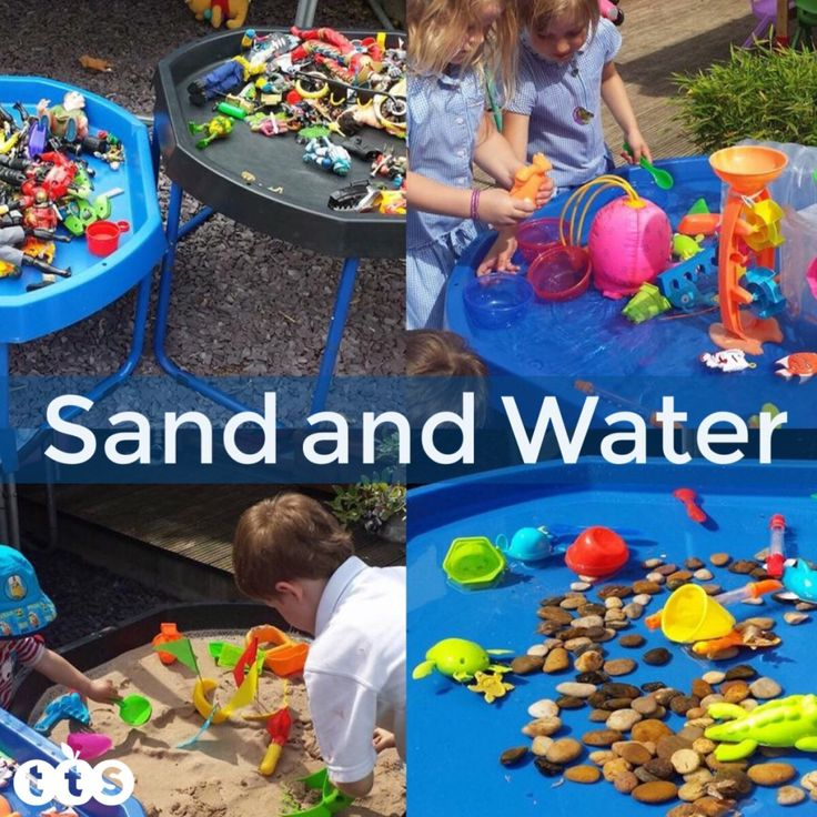 Sand and Water Play in an active world tuff spot tray.