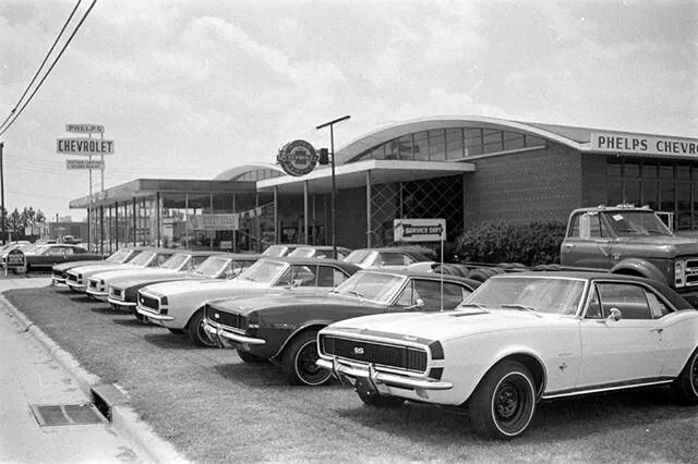 1960 S Phelps Chevrolet Dealership Greenville North Carolina Chevroletvintagecars Chevrolet Dealership Chevy Dealerships Camaro