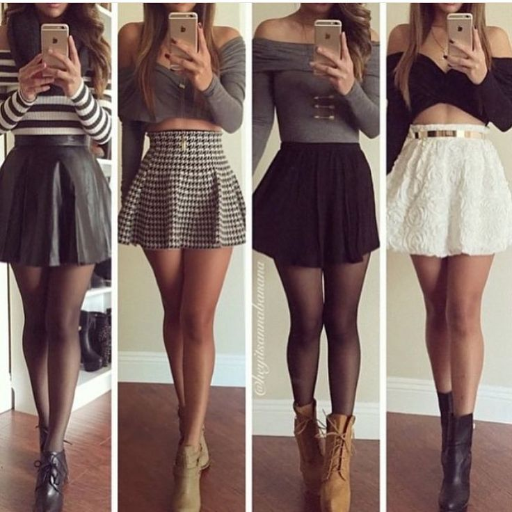 Way to wear skater skirt