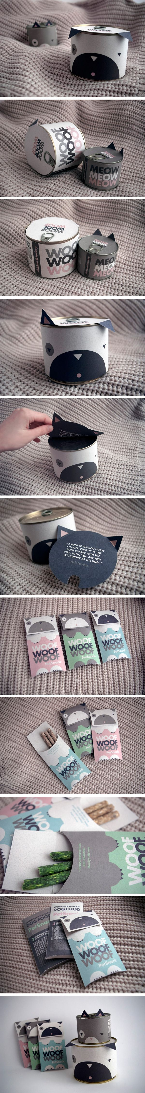 Just too cute #pet snack #packaging that suddenly became every popular PD