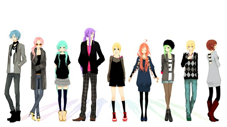 Vocaloid Casual Modern Clothing Fashion Vocaloid Pinterest Modern Clothing Kaito And