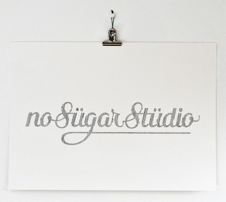 No Sugar Studio, handmade typography by Peter Crawley