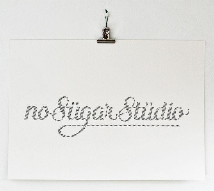 No Sugar Studio, handmade typography by Peter Crawley