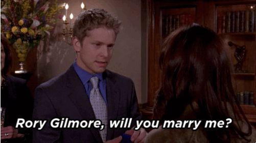 "Someone asked about Logan's famous proposal to Rory at the end of Season 7. | Here's Why Matt Czuchry Is Happy Rory Rejected Logan's Proposal On ""Gilmore Girls"""