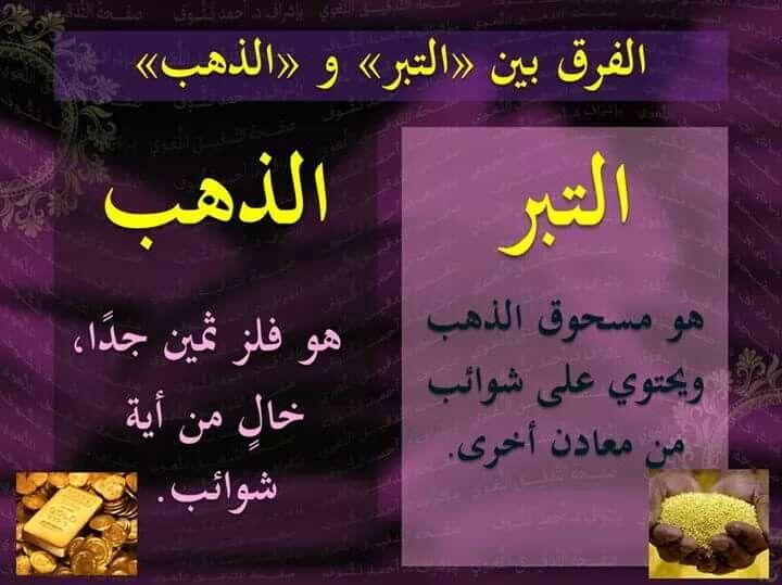 Gold in arabic language #الذهب #التبر