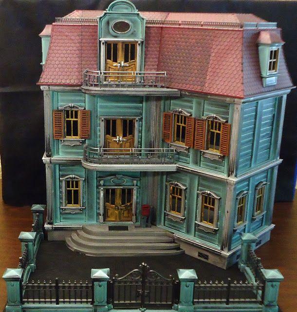 Custom playmobil a dolls house pinterest for Mansion de playmobil