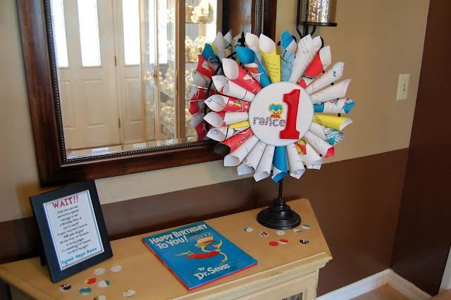 dr. seuss birthday: decorations