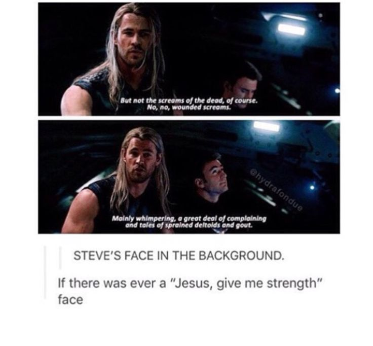 Steve's face in the background is a Jesus, give me strength face. xD