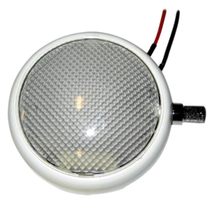 Perko Round Surface Mount LED Dome Light w/Adjustable Dimmer - White Powder Coat