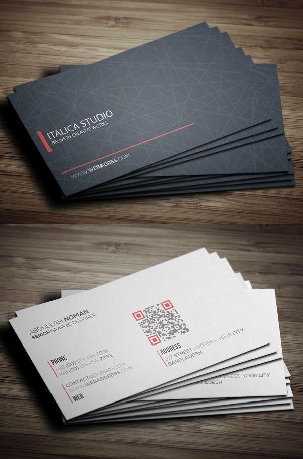 Modern Business Card Template #businesscards #psdtemplates #visitingcard #businesscardtemplate