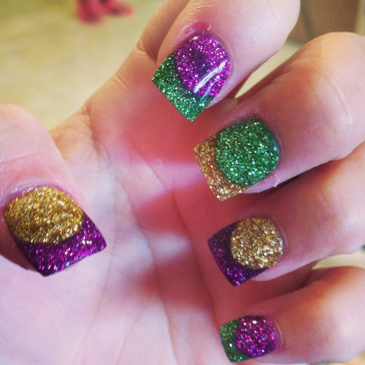 1000+ images about Nail art on Pinterest | Mardi gras, Nails and ...