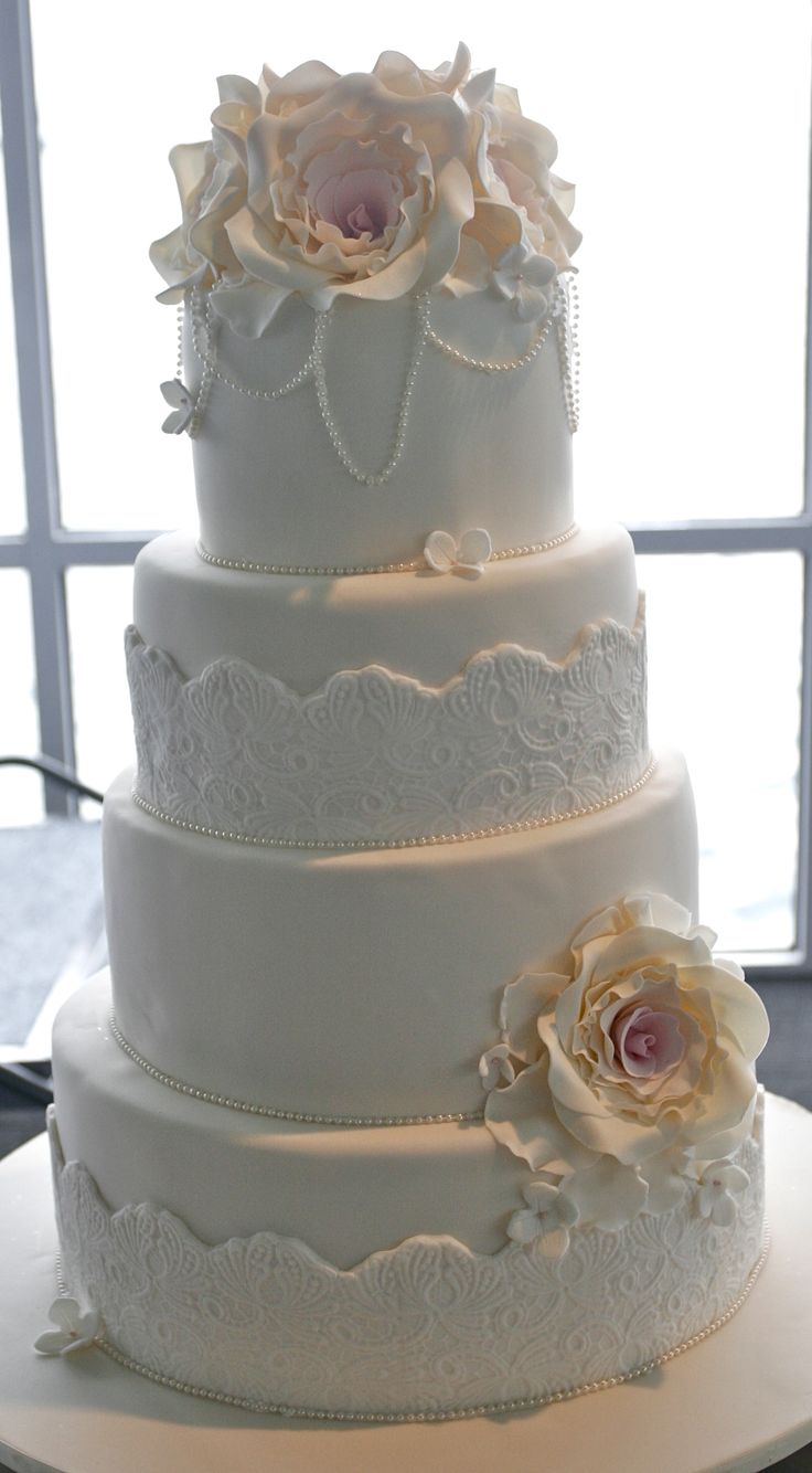 classically beautiful #wedding #cake #love #specialoccasion #perfectday #weddingcake #elegant #flowers