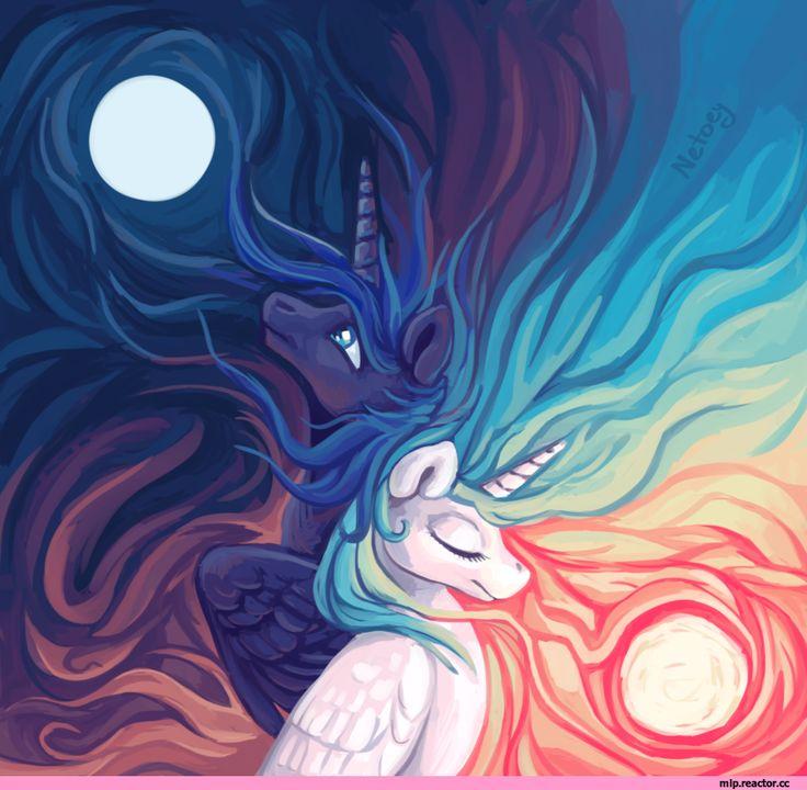 my little pony,Мой маленький пони,фэндомы,mlp art,Princess Celestia,Принцесса Селестия,royal,Princess Luna,принцесса Луна