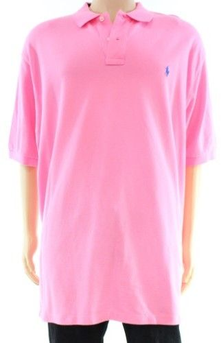 Polo Ralph Lauren Pink Mens Size XL Classic Fit Polo Rugby Shirt
