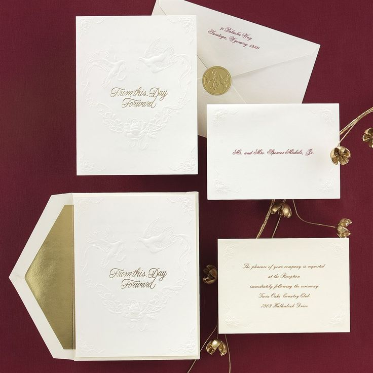 wedding invitations from michaels crafts%0A This Day Forward in Ecru Invitation
