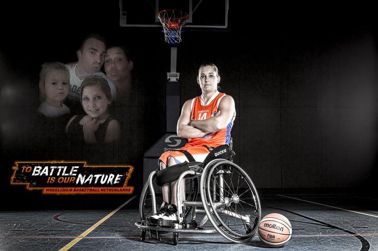 Carina de Rooij - Wheelchair Basketball Netherlands 'To battle is our nature' Rolstoelbasketbal http://www.greatmatch.nl/avada_portfolio/nbb-rolstoelbasketbal-to-battle-is-our-nature/?utm_content=buffer61168&utm_medium=social&utm_source=pinterest.com&utm_campaign=buffer#prettyPhoto