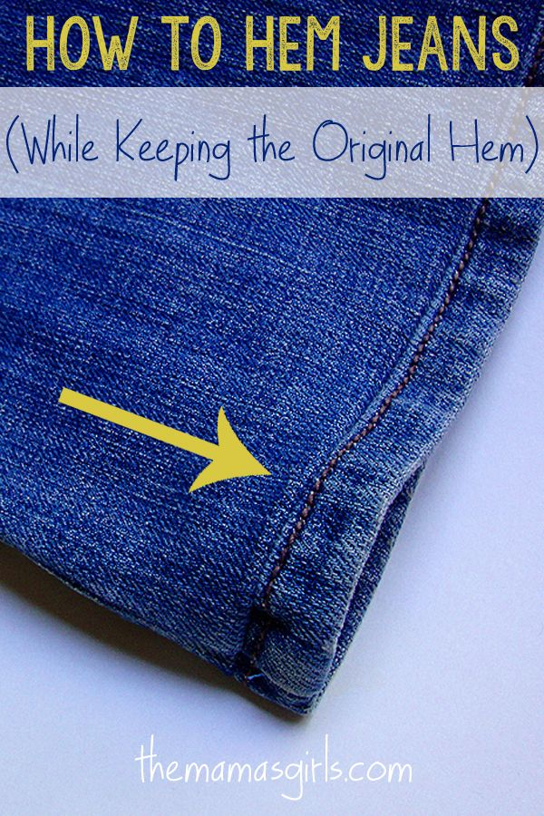 How to Hem Jeans (While Keeping the Original Hem)