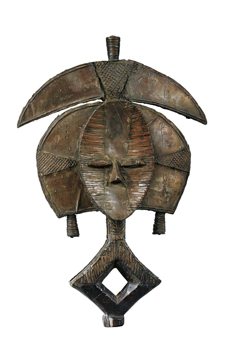Africa   Reliquary figure from the Kota people of Gabon   Wood and metal   ca. 1970
