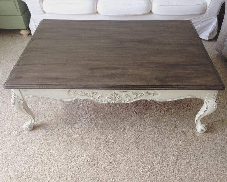 A Refreshed Coffee Table Top And All About Layering Gel Stain And Chalk Paint