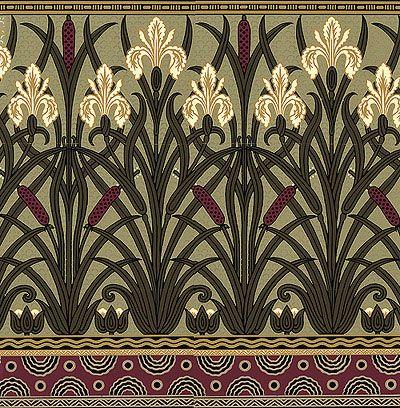 PatternVictorian Art, Victorian Wallpapers, Pattern, Walter Crane, Nouveau Blog, Art Nouveau Wallpapers, Victorian Era, Iris Frieze, Art Deco