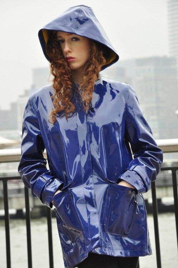 Love blue PVC jacket