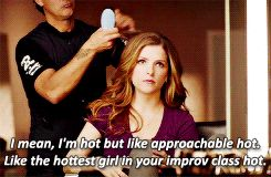 At one point she debates her level of hotness*. | Anna Kendrick's New Superbowl Commercial Is Freaking Hilarious