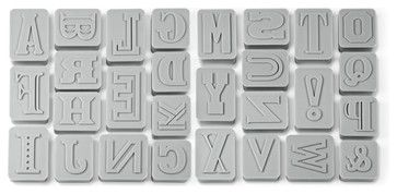 Letter Pressed Cookie Cutters, Set of 26 - contemporary - Cookie Cutters - 1800Housewares
