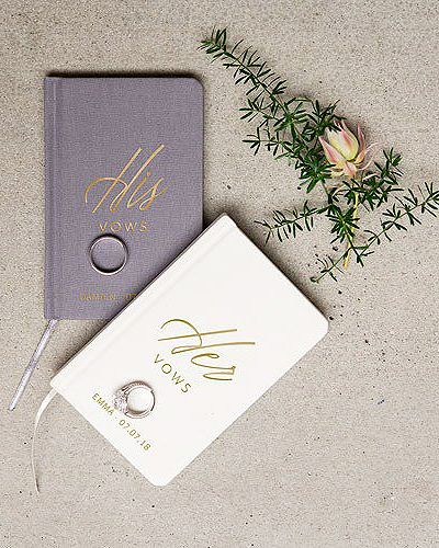 buying a wedding vow booklet is a great way to create a keepsake out of the