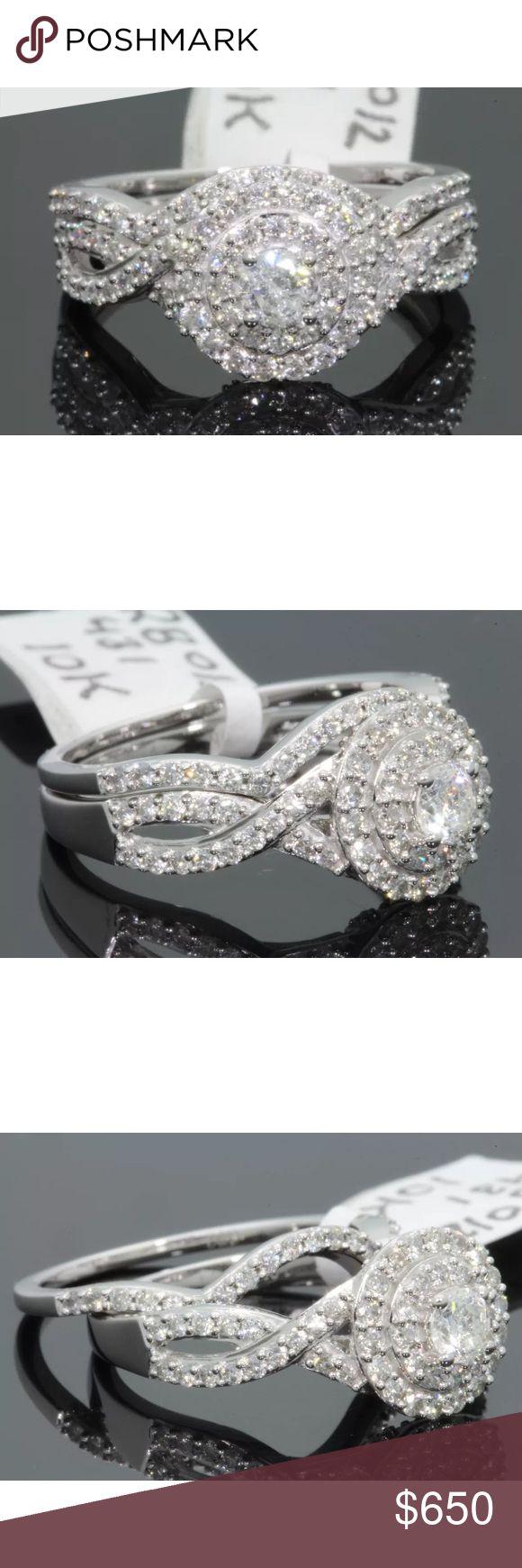 Gorgeous 1.10 carat 10kwhite gold diamond ring set Gorgeous 1.10 carat 10kwhite gold diamond ring set Jewelry Rings