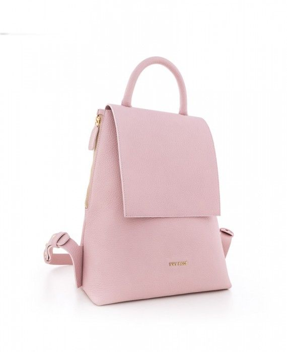CN BIG BACKPACK PINK NAPPA TEXTURED