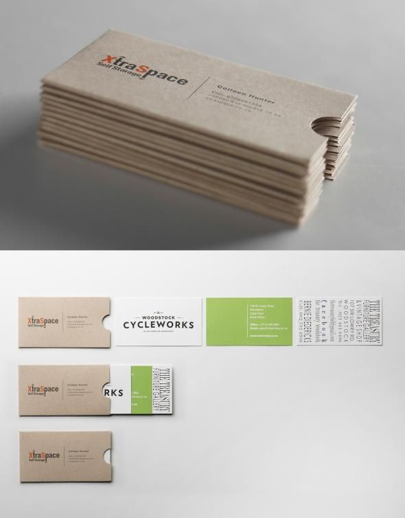 A business card that holds other business cards.