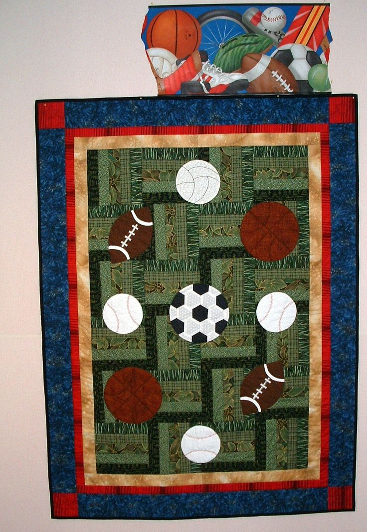 sports quilt patterns for boys | sports quilt pattern found in fan tastic sport…