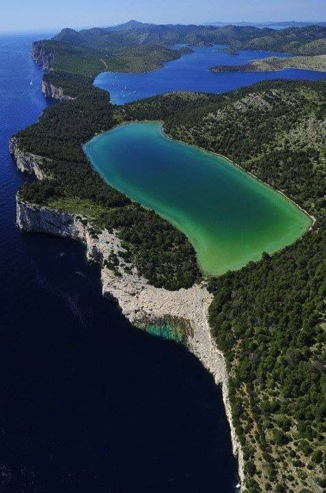Lake Over The Ocean,Kornati National Park,Croatia