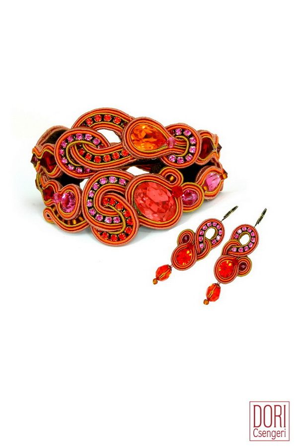 Brighten up your look with Dori's orange bracelet. #doricsengeri #orangebracelet #springtrends #springcolors #designerjewelry #statementbracelet